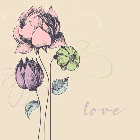 abstract backgrounds: Flowers bouquet