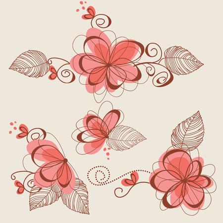 Floral elements, page decorations