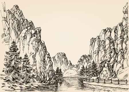 defile: River in the mountains