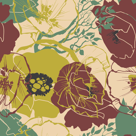 color swatch: Retro floral seamless pattern