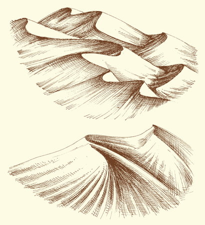 Dunas de arena del desierto Ilustración de vector
