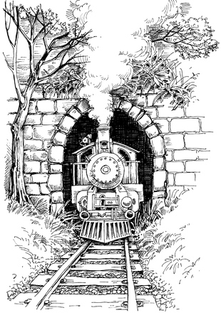 steam: Steam train Illustration