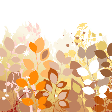 fall leaves: Fall leaves background. Autumn in foliage colors