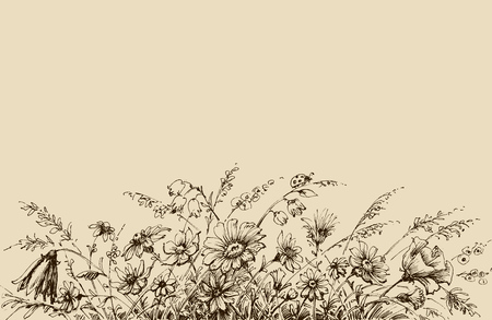 style: Floral background drawing