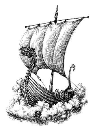 Imbarcazione a vela Vettoriali