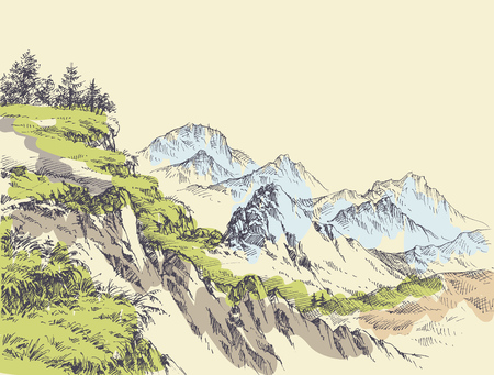 Wilderness drawing.