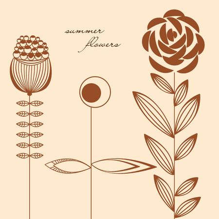 Flowers design elements