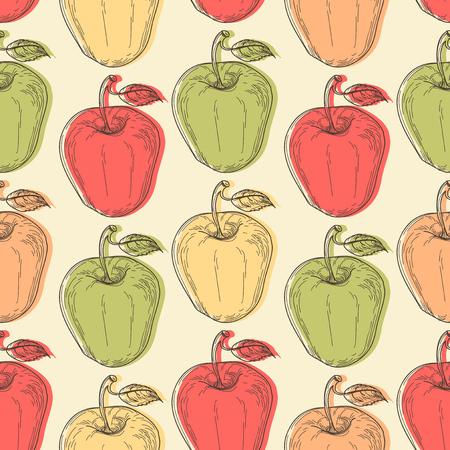 Apple seamless pattern Ilustração