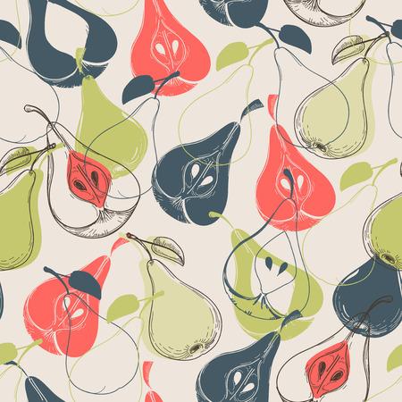 Pear seamless pattern Ilustração