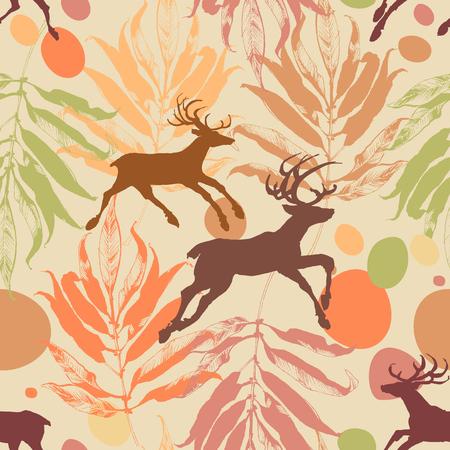 Autumn in the forest seamless pattern Ilustração