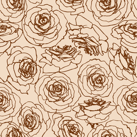 Roses seamless pattern in vintage style  イラスト・ベクター素材