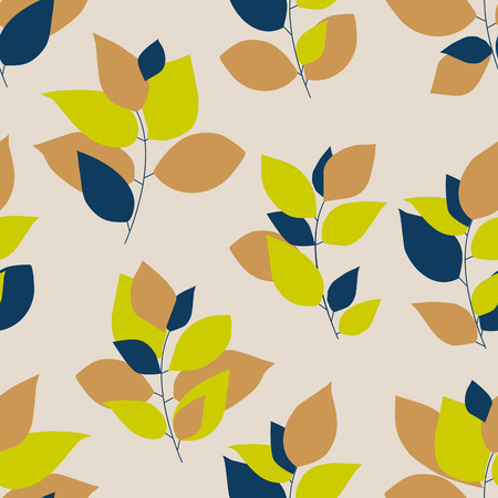 Bright colorful leaf seamless pattern
