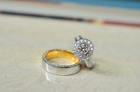 delicated: Delicated couple of diamond ring Stock Photo