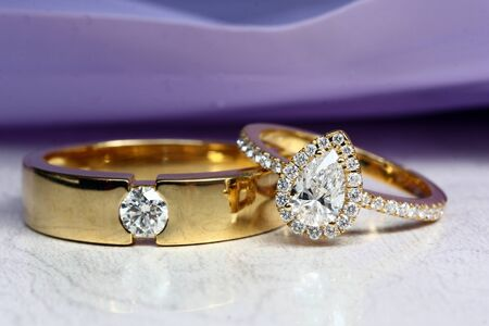 Couple diamond ring