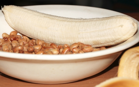 Banana and Soybeans Snack