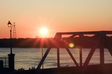 Sunset at Mississippi River- shot from Vicksburg Visitor Center photo