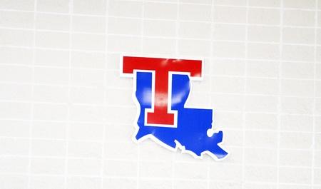 argent: State T logo for Louisiana Tech University