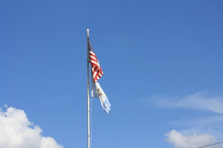 American and Pineville, Louisiana flags Stock Photo - 21812383