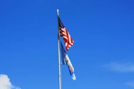 American and Pineville, Louisiana flags Stock Photo - 21812385