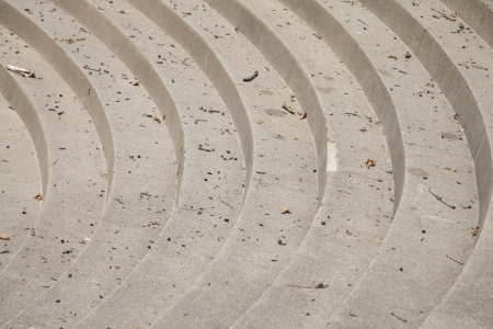 Arial view of steep gray concrete steps