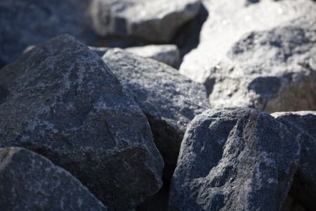 Close up of large, sparkly grey granite rocks