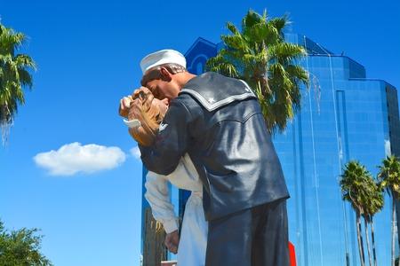 Unconditional surrender, Sarasota, Florida
