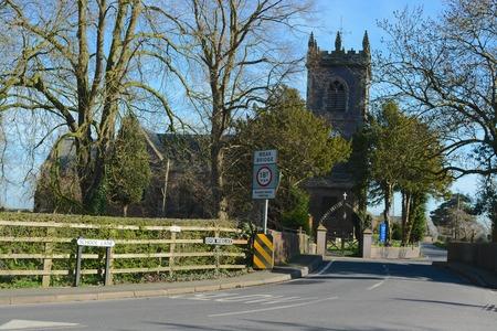 Warmingham village church 写真素材