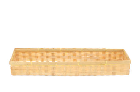 living wisdom: Thai traditional bamboo wooden handcraft on white background Stock Photo