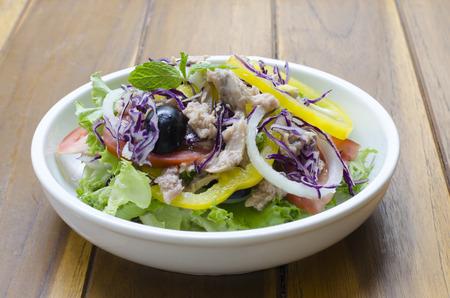 food stuff: Tuna and vegetable salad