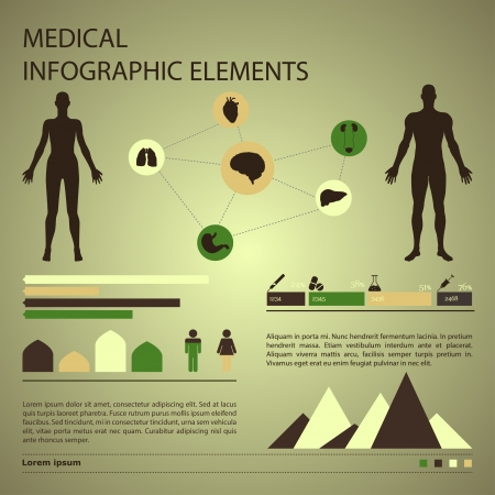 medical infographic elements Stock Vector - 24626454
