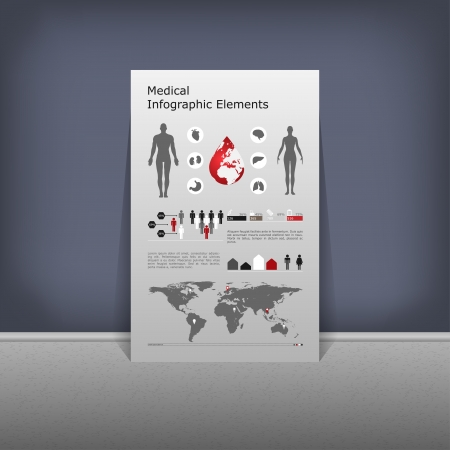 Medical Infographic set illustration Vector