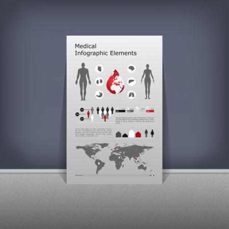 Medical Infographic set illustration Stock Vector - 24626428