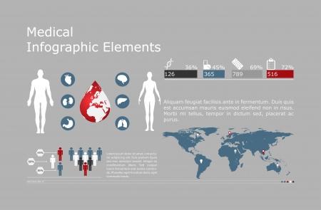 Medical Infographic set illustration Stock Vector - 24626425