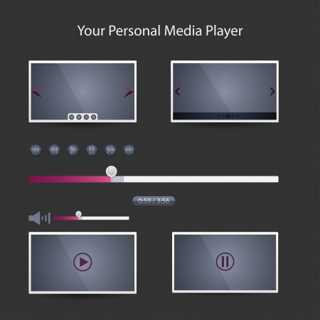 Video players for web Vector