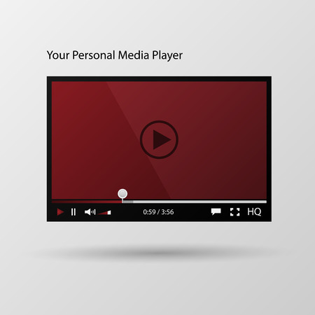 Video player interface. Vector