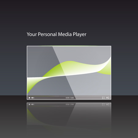 interface menu tool: Video player for web Illustration