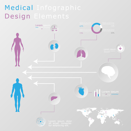 Medical infographic elements Stock Vector - 27373766
