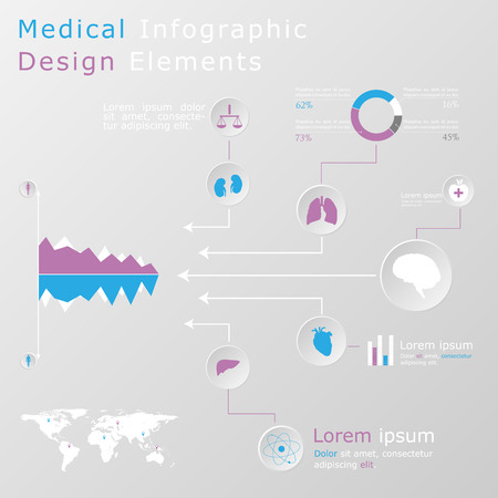 Medical infographic elements Stock Vector - 27373773