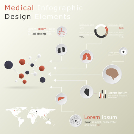 Medical infographic elements Stock Vector - 27373777