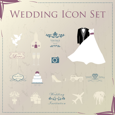 wedding church: Wedding Planner Icons and Infographics
