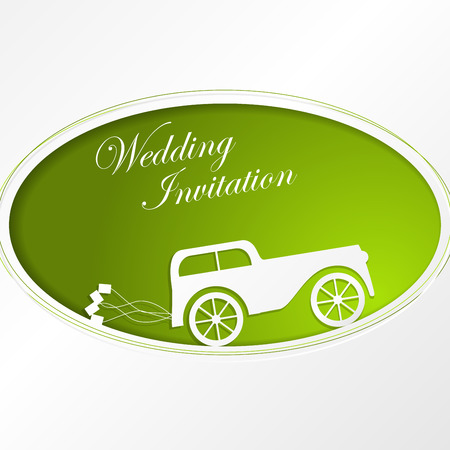 Wedding invitation, anniversary card with label Vector