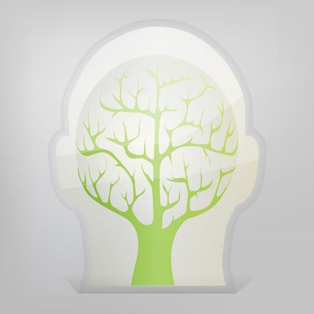 psychoanalysis: Brain tree illustration