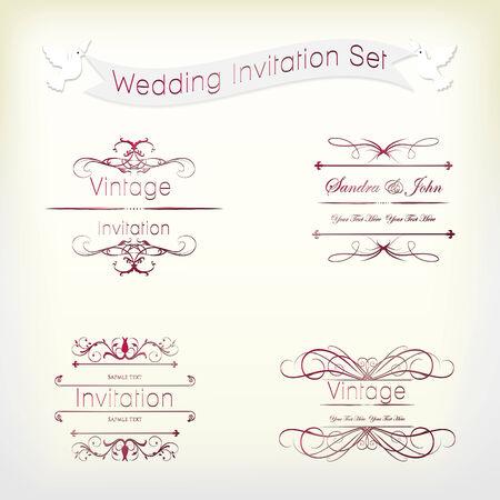 музыка: Свадьба Vintage Приглашение Коллекция Иллюстрация