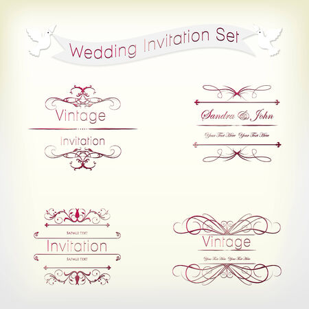 invitaci�n vintage: Invitaci�n de boda Vintage Collection