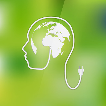 photocell: evolution of the concept of greening of the world Illustration