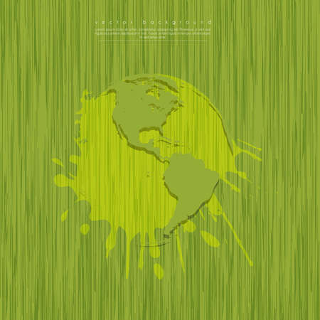 voltaic: evolution of the concept of greening of the world Illustration