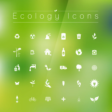 antipollution: Iconos de la ecolog�a Vectores