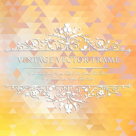 element for design: Vintage floral frame. Element for design. Illustration