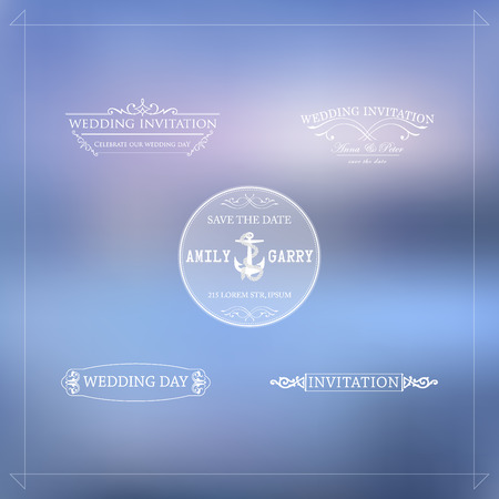 wedding decoration: Vector design elements and calligraphic page decorations for wedding