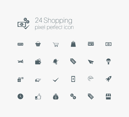 solid: Solid web solid icons set - E-commerce, shopping Illustration